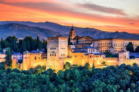 The Alhambra palace, Granada, Andalusia, Spain
